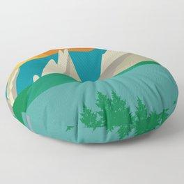 Boulder, Colorado - Skyline Illustration by Loose Petals Floor Pillow
