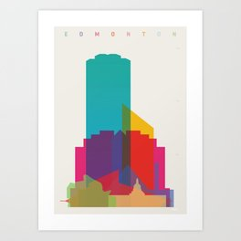 Shapes of Edmonton Art Print