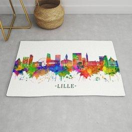 Lille France Skyline Rug