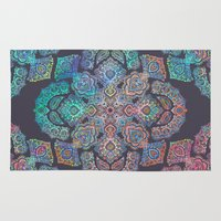 boho Area & Throw Rugs featuring Boho Intense by micklyn