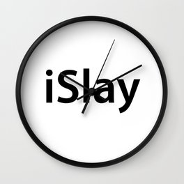 iSlay// bey inspired graphic Wall Clock