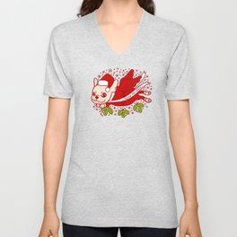 Christmas with a Frenchie Unisex V-Neck