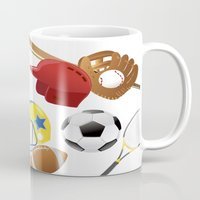 sports Mugs featuring sports! by Dues Creatius
