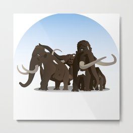Mammoth Family Metal Print