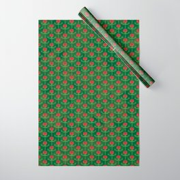 Spring Roses Pattern Wrapping Paper