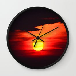 Sunset on Compo Beach Wall Clock