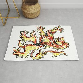 Lion Knight King Warrior Perfect Gift Rug