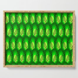 geen tropical abstract Serving Tray