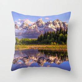 Grand Teton National Park Throw Pillow