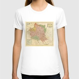 Kingdom of Poland and the Grand Dutchy of Lithuania Map (circa 1770) T-shirt