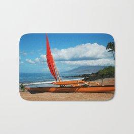 Hina Wāʻapea Sailing Canoe  Polo Beach Wailea Maui Hawaii Bath Mat