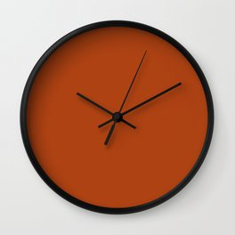 SOLID SIENNA COLOR Wall Clock