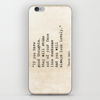 roald dahl iPhone & iPod Skins featuring Roald Dahl Lovely Quote by ShadeTree Photography