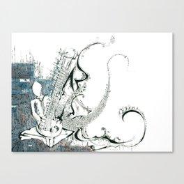 Sitar Canvas Print