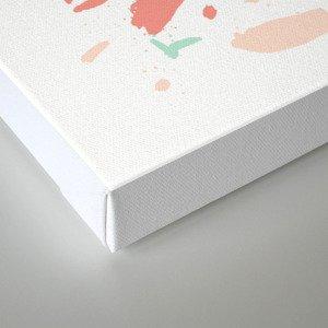 Mint coral terrazzo painted minimal dots splash pattern fun dorm girly decor Canvas Print