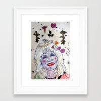 dolly parton Framed Art Prints featuring D. Parton by Lauren Over