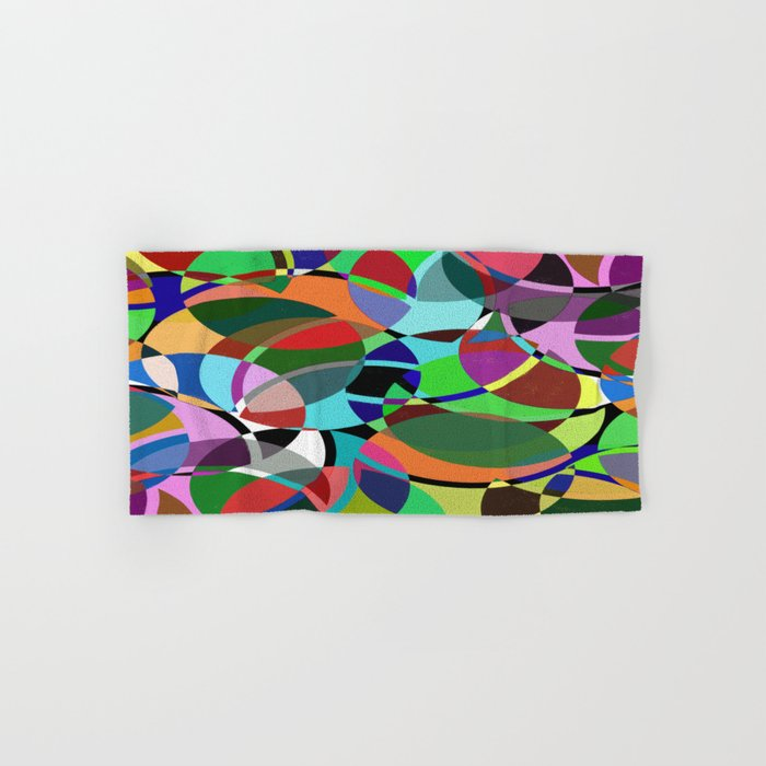 Pastel Pieces II - Abstract, textured, pastel, arcs and circles design Hand & Bath Towel