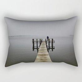 Man on wharf Rectangular Pillow