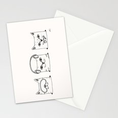3 wise cats Stationery Cards