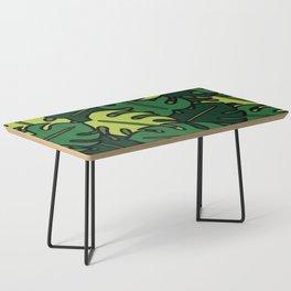 Monstera Leaf Pattern Coffee Table
