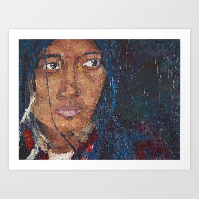 TIBETAN WOMAN Art Print