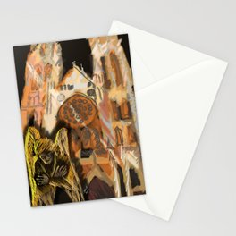 Outside The Church Stationery Cards