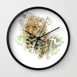 Jaguar Watercolour Wall Clock