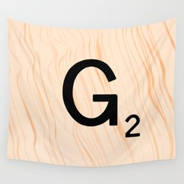 Scrabble Letter G - Scrabble Art and Apparel Wall Tapestry