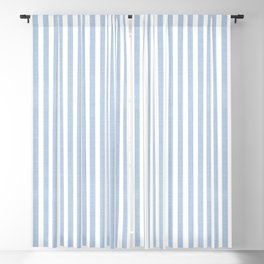 FADED DENIM CHAMBRAY STRIPES Blackout Curtain