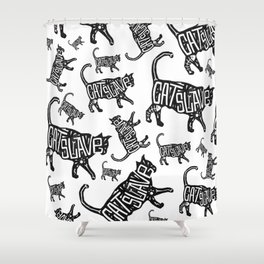 Cat Slave Shower Curtain