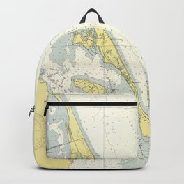 Vintage Map of The Outer Banks (1942) Backpack