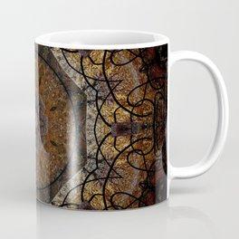 Rich Brown and Gold Textured Mandala Art Coffee Mug