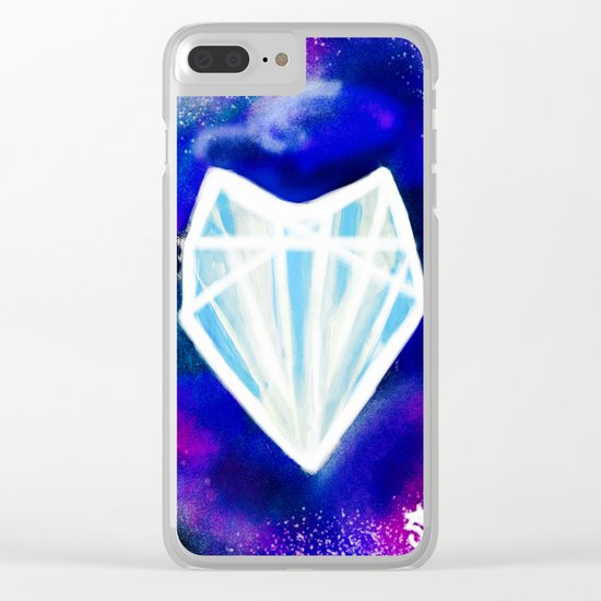 Hearts or Diamonds, I'll Take Diamonds Clear iPhone Case