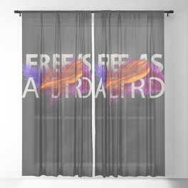 Free as a Bird Sheer Curtain