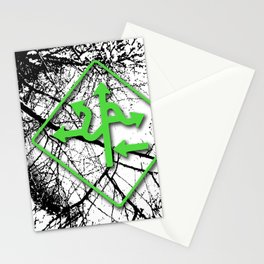 Arrows - Green Stationery Cards