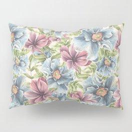 Hibiscus Vintage Pattern Pillow Sham