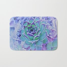 winter succulents Bath Mat