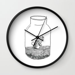 crystal terrarium Wall Clock