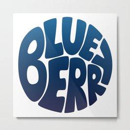 Typo' Blueberry Metal Print