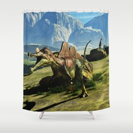 Ichthyovenator Dinosaur Shower Curtain