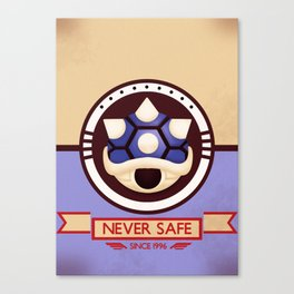 Never Safe - Mario Kart Canvas Print