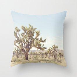 Pale Desert Throw Pillow