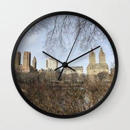 As Seen Through the Trees Wall Clock