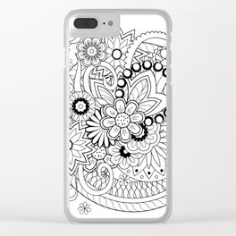 zen composition in black&white Clear iPhone Case