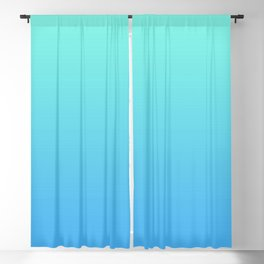 Gradient Blue AI Aqua Turquoise Mint Teal Pastel Azure Ombre Abstract Sea Sky Summer Pattern Blackout Curtain
