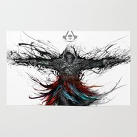 assassins creed Area & Throw Rugs featuring assassins creed by ururuty