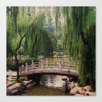 asian Canvas Prints featuring Asian Garden by MehrFarbeimLeben