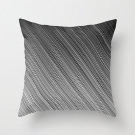 Black and White Diagonal Stripe Throw Pillow