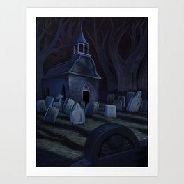 Sleepy Hollow Churchyard Cemetery Art Print