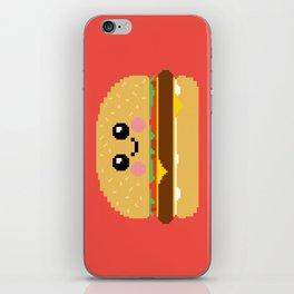 Happy Pixel Hamburger iPhone Skin